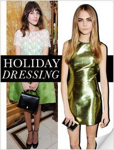 green metallic leather dress
