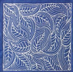 The Free Motion Quilting Project: Day 364 - Flowing Leaves