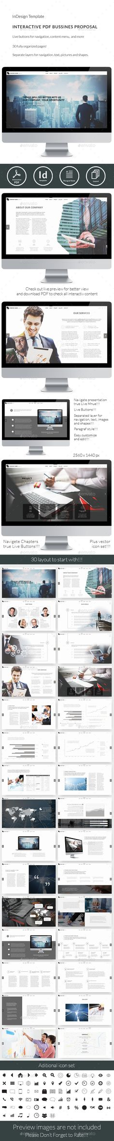 Interactive PDF Business Proposal No1  — InDesign Template #interactive #pc • Download ➝ https://graphicriver.net/item/interactive-pdf-business-proposal-no1/18157262?ref=pxcr