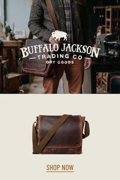 Amazing collection of leather bags and accessories for men. Impressive quality and attention to detail. Bison leather, traditional leather, vintage, and more. Great rugged vibe. messenger bags | briefcase bags | camera bags | luggage | wallets Vintage Messenger Bag, Canvas Messenger Bag, Messenger Bag Men, Mens Leather Satchel, Men's Leather, Mens Work Bags, Work Travel, Travel Bags, Briefcase For Men