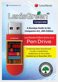 LexisGreen Corporate pack contains 'A Ramaiya Guide to the Companies Act…
