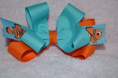 Nemo Hair Bow Hairbow New  Fish Summer by CarleesBowtique on Etsy, $5.99
