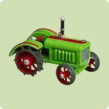 "Hallmark Miniature Keepsake Ornament ""Antique Tractors"" 8th in the series die-cast metal (2004) *"