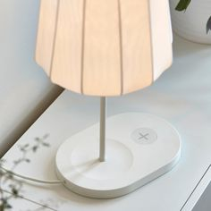 Tunto PowerKiss Lamp; Made From Bent, Ultrathin Wood Board, This Unique Lamp  Features PowerKiss Wireless Charging Technology Built Into The Base, U2026