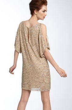 Aidan Mattox Sequin Cold Shoulder Dress | Nordstrom
