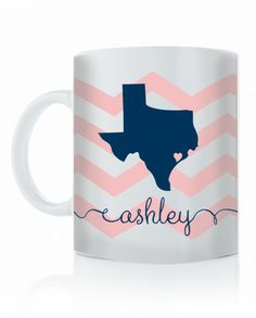 State love Coffee Cup   Swanky Press I want a California and Ohio one