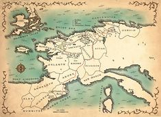 Broken Empire map from King of Thorns. Prince Of Fools, Prince Of Thorns, Sea Level Rise, Fantasy Map, Out To Sea, Red Queen, Book Art, Vintage World Maps, Empire