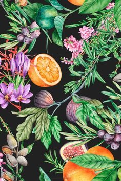 Repeating Patterns, Fruit, Beautiful Patterns, Home Textile, Decoration, Print Patterns, Interior Decorating, Tropical, Hand Painted