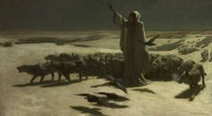 the-procession-moves-on:  John Charles Dollman, Famine, 1904
