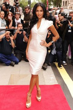 Singer/TV Personality Nicole Scherzinger wearing a Le Vian Vanilla Diamond ring (Tag # NOAA 1) to the X-Factor Launch at The Corinthia Hotel on August 16, 2012 in London, England.