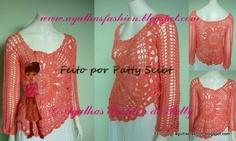 AGULHAS FASHION DA PATTY: Blusa Petal