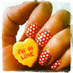 Red Polka Nail Wraps by Jamberry Nails