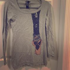 Funky Ballet Sweater Long stretchy fit... Great with leggings Forever 21 Sweaters Crew & Scoop Necks