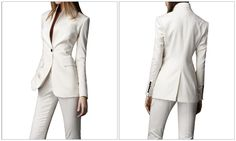 Work Suits for Women | YJL 2040 Custom made wool business suit women's ladies suit for work 2 ...
