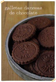 Galletas danesas de chocolate {by Paula, Con las Zarpas en la Masa}
