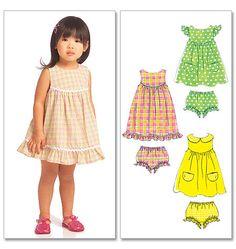 M5606, Toddler's/Children's Tops, Dress and Panties