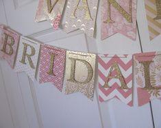 Bridal Banner, Bridal Shower Banner. Wedding Shower Banner, Blush and Gold Bridal Shower, Pink and Gold Bridal Shower Decorations