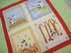 Four Seasons Little Lamb Baby Quilt  / Toddler Quilt / Panel Quilt / Boy or Girl. $48.00, via Etsy.