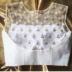 Latest Designer Blouse Design, Best Blouse Design For All Occasion - Mehandi DesignYou can find Designer blouse patterns and mo. Netted Blouse Designs, Best Blouse Designs, Saree Blouse Neck Designs, Choli Designs, Saree Blouse Patterns, Sari Design, Red Lehenga, Lehenga Choli, Lehnga Blouse