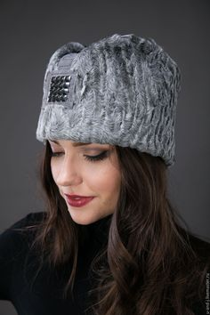 Bandana, Hats For Women, Knitted Hats, Winter Hats, Fashion Accessories, Fur, Knitting, Sewing, Scrapbook