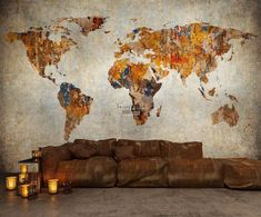 Map design in fall colours. Map Design, Wall Murals, Maps, Colours, Wallpaper Murals, Wall Prints, Wall Mural, Map, Wall Paintings
