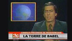 """Vargas Llosa entrevistador. En 1981 condujo el programa televisivo """"La Torre de Babel"""" en Panamericana Televisión."""