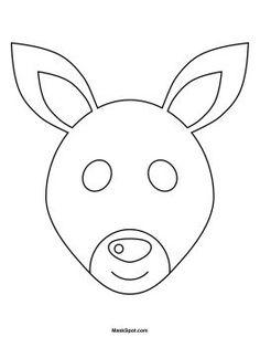 Printable Monkey Masks Templates (free | Pinterest | Monkey mask ...