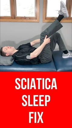 Dr. Rowe shows how to sleep better with sciatica pain with TWO easy and effective exercises that can be done in bed.   Two different options are shown, one lying down and one you can do flat on your back. They're safe, effective and can give sciatica relief in as little as 30 SECONDS.  If you're suffering from sciatic nerve pain and can't sleep and need quick relief, this is a video you won't want to miss.   Watch now and getting sleeping better QUICKLY. Sciatic Nerve Exercises, Lower Back Pain Exercises, Sciatica Stretches, Arthritis Exercises, Sciatica Pain Relief, Sciatic Pain, Gym Workout For Beginners, Nerve Pain, Alternative Health