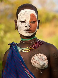 Woman from the Surma tribe of Ethiopia