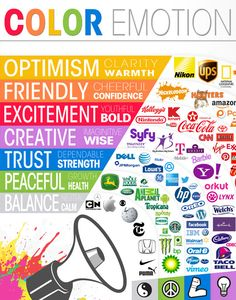 Color confers emotion.  Make sure you are conveying the right message for your brand!