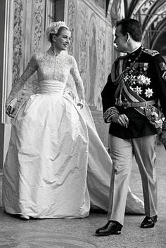 Princess Grace (Wedding Gown by Helen Rose), 1956--I always loved Grace..she was beautiful and classic.