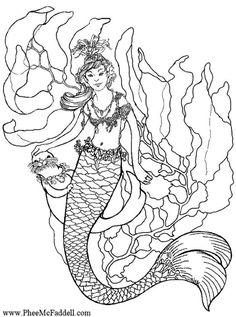 coloring pages mermaids h2o sims | 3-d-Malbuch--Meerjungfrauen 85 32 32 ausmalbilder ...