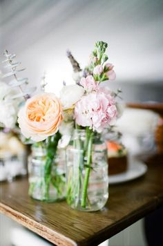 Mismatched Flowers / Katie & Mark's Rustic Country Wedding / Wedding Style Inspiration / LANE
