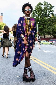 Shabaka Experience - From AfroPunk in apparel from House of Aama. Urban Fashion, Unique Fashion, Fashion Art, Boho Fashion, African Inspired Fashion, African Fashion, African Wear, Moda Afro, Afro Punk Fashion