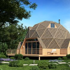 Concept Architecture, Architecture Design, Double Wide Home, Octagon House, Geodesic Dome Homes, Earthship Home, Dome House, Little Cabin, Round House