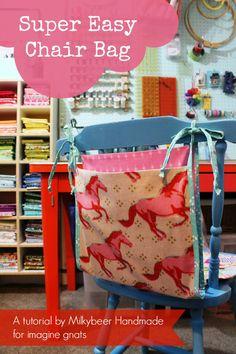 sewing: super easy chair bag tutorial    imagine gnats