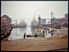 1971 | Wismar, Alter Hafen - Kai, WIS 108 und MS Mulde | V-like-Vintage