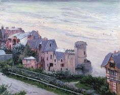 The Athenaeum - Trouville, Beach and Villas (Gustave Caillebotte - ) French Impressionist Painters, Impressionist Artists, Mary Cassatt, Honfleur, Fontainebleau, Edgar Degas, Expositions, French Art, Art Day