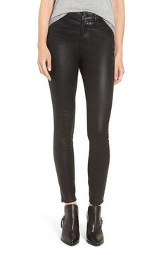 Articles of Society 'Hailey' High Rise Coated Skinny Jeans available at #Nordstrom