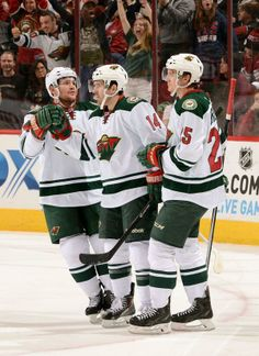 Fontaine got his first career hat trick last night in Phoenix! #mnwild