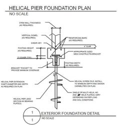 helical pile foundation - Google Search #shedplans Woodworking Guide, Woodworking Techniques, Custom Woodworking, Woodworking Projects Plans, Teds Woodworking, Building Foundation, Foundation Repair, Architectural Section, Shipping Container Homes