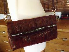 Vintage Boho Burgundy Convertible Cross Body Clutch by Calliopegirl on Etsy