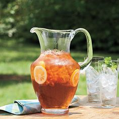 Southern Sweet Tea, on the table at every Darling Dahlia's backyard picnic