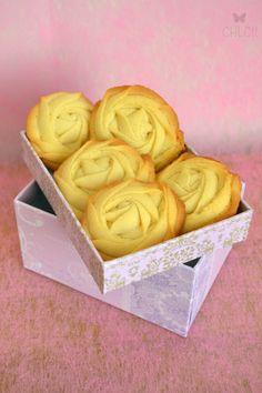 galletas de mantequilla con manga pastelera
