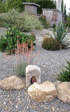 A simple but elegant combination of xeriscaping and hardscaping from: giftedvirginfar