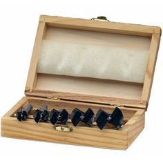 (Holzwerkzeug) Forstnerbohrer in Holzbox - 5 teilig (B Qualität), günstig kaufen