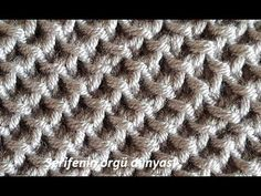 - Mesh with spit - mesh models - cowel knitting Baby Knitting Patterns, Jumper Knitting Pattern, Easy Crochet Patterns, Stitch Patterns, Rib Stitch Knitting, Lace Knitting, Knitting Stitches, Moss Stitch, Knitting Videos