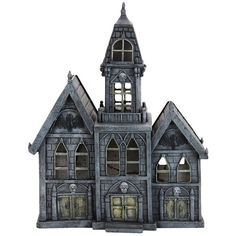 "Exhart 12"" LED Haunted Mansion Outdoor Decor ($38) ❤ liked on Polyvore featuring home, outdoors, outdoor decor, multicolor and exhart"