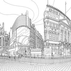 Canadian artist Steve McDonald's colouring book –Fantastic Cities: A Colouring Book of Amazing Places Real and Imagined