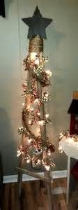 Primitive Tobacco Stick Tree...with RagLights and Twig Garland